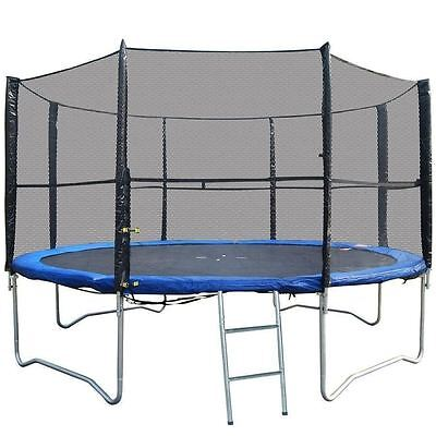 10Ft Replacement 6 Pole Trampoline Safety Net Enclosure Surround Outdoor