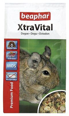Pack Of 5 Beaphar Xtravital Degu Food 500 G () Pet Supplies Extrememly Palatabl