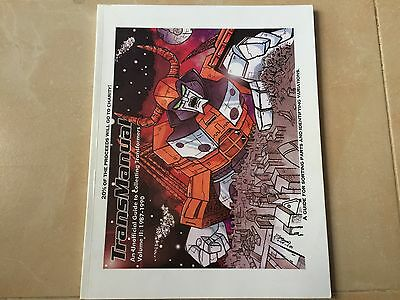 Transformers G1 TRANSMANUAL part 2 complete (used) collection guide book toyline