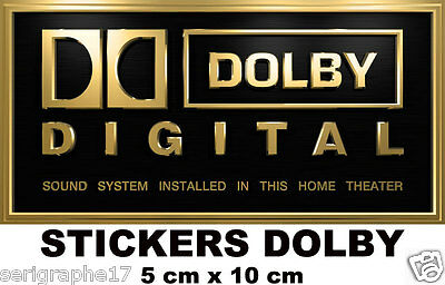 2 adhesifs stickers DOLBY DIGITAL home sound system theater sticker 5 x 10 cm