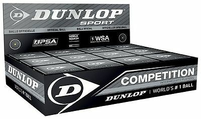 New Official Dunlop Competition High Performance Standard Squash Balls