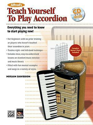 Alfred's Teach Yourself to Play Accordion Everything You Need to Know Book + CD