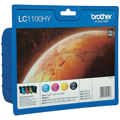 PACK DE 4 CARTOUCHES BROTHER LC1100HY NOIRE + JAUNE MAGENTA CYAN  / LC-1100 hy