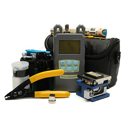 Fiber Optic FTTH Tool Kit with FC-6S Fiber Cleaver and Optical Power Meter Set