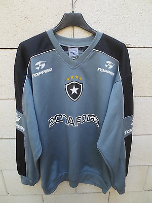 VINTAGE Sweat maillot football BOTAFOGO TOPPER training shirt jersey G L
