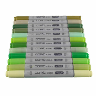 Copic Ciao Twin Tip Marker Pen Yellow Green Colours