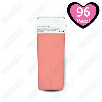 96 Ricariche Rullo Cera Depilatoria Titanio Rosa Cartuccia Roll-on 100ml Ceretta