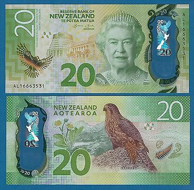 New Zealand 20 Dollars P New 2015 / 2016 UNC Low Shipping! Combine FREE! Polymer