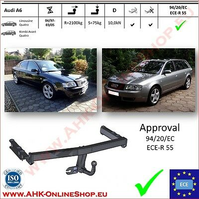 TOWBAR Audi A6 C5 Estate Saloon 1997 to 2003 / swan neck TOP Quality