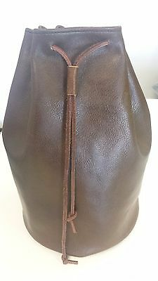 Medieval Handmade Leather Pouch Bag - extra large, Drawstring Renaissance 11x7