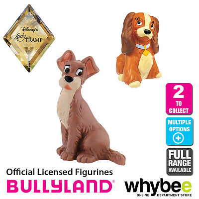 Official Bullyland Disney Lady and The Tramp - 2 Cake Topper Figures to Collect!