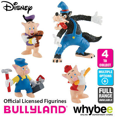 Official Bullyland Disney The 3 Little Pigs Figurines - 4 Cake Topper Figures!