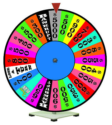Spinning Prize Wheel Fits with Wheel of Fortune Theme 24""