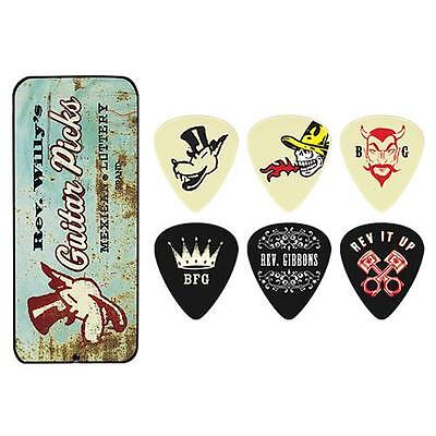 Jim Dunlop ZZ Top Rev. Willy's Mexican Lottery Brand 6-Pick Tins