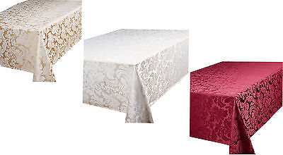 Quality Jacquard Tablecloth All Sizes Round Oblong Runner Table Care Easy Clean