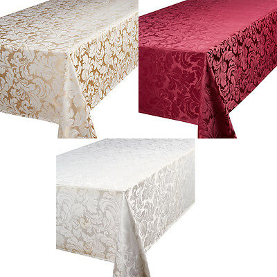 Table Cloth Designer Jacquard Table Care All Colours Accessories Quality Linen