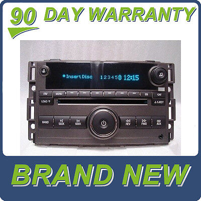 hhr cd mp3 xm ready us8 radio oem factory gm delco stereo unlocked new chevrolet chevy hhr radio mp3 6 disc changer stereo 15299285
