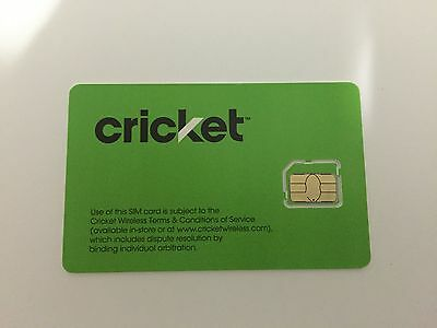 NEW Cricket 4G LTE Micro Sim Card Good For Activation Galaxy S4 S5 Note 4 & More