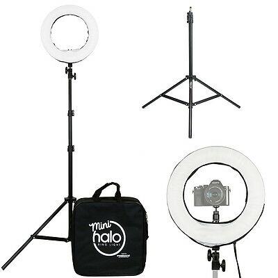 """Prismatic 14"""" Fluorescent Mini Halo Ring Light with Light Stand"""