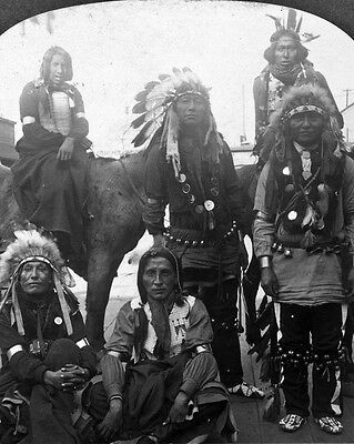"""New 8x10 Native American Photo: Indians from the """"Wild West"""" at World's Fair"""