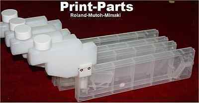 4pcs Bulk Feed System Cartridges Suits Roland Mutoh Mimaki Epson Printers
