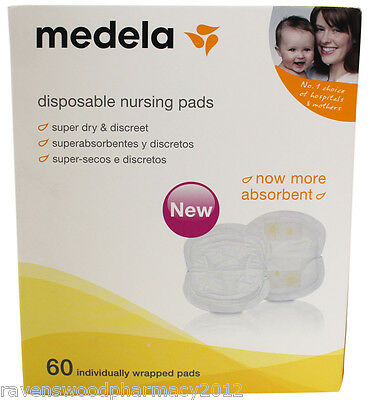 Medela Disposable Nursing Bra Pads (Pack of 60) ::Stay Dry and Confident::