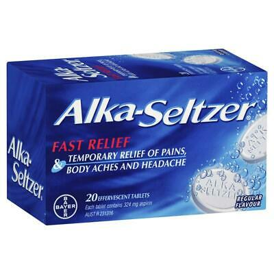 1 x Alka Seltzer 20 Effervescent Tablets ::Fast Relief from Headaches::