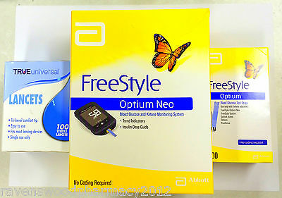 Abbott Freestyle Optium NEO machine + Freestyle Optium Strips + Lancets