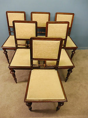 6 Antique Victorian Walnut Dining Chairs