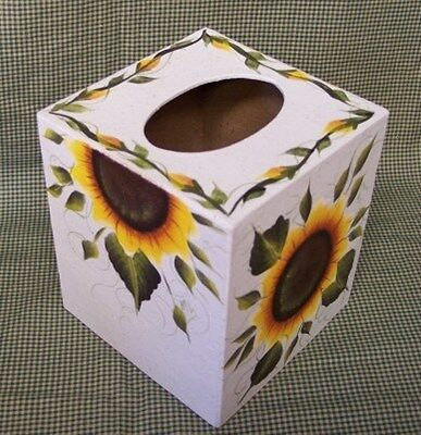 Hp Sunflower Tissue Box/boutique/  New Item By Mb