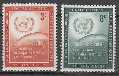 UNO / UN  New York 1957 : 62 - 63  ** / MNH - United Nations Day