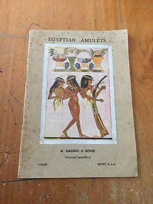 Egyptian Amulets A. Gaddis & Sons Oriental Jewellery Luxor Egypt U.A.R. Booklet