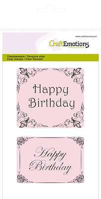 CraftEmotions clearstamps A6 - Happy Birthday Botanical 011012