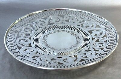 International Sterling Silver Cake Footed Tray
