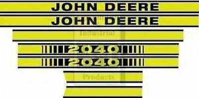 John Deere Tractor  Model  2040  Hood  Decal  Set