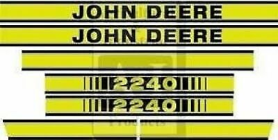 John Deere Tractor  Model  2240 Hood Decal  Set