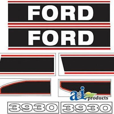 Ford Tractor Hood Decal Set   Model 3930