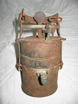 Vtg 1900 Antique Miners Lantern Carbide  Lamp -Very Old -Look