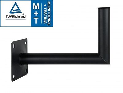 "500mm 50cm 20"" Satellite & Aerial Wall Mount Bracket 50mm 2"" Heavy Duty Dark"