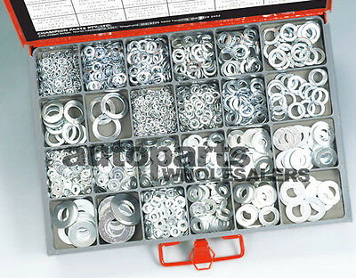 CHAMPION MASTER KIT FLAT & SPRING STEEL WASHERS ASSORTMENT (1158 Pieces)