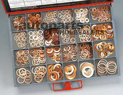 CHAMPION MASTER KIT METRIC COPPER WASHERS ASSORTMENT (565 Pieces)