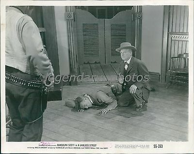 1955 Lawless Street Original Press Photo Randolph Scott