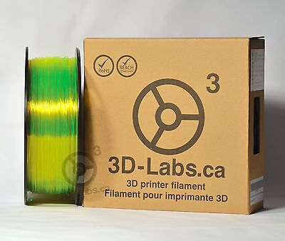 Yellow PETG premium filament 1.75mm 1Kg/spool from 3D-Labs