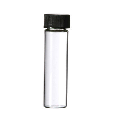 72 - 2 Dram 8 ML 8ML Empty Glass Bottle Screw Top Clear Sample Vials Perfume Oil