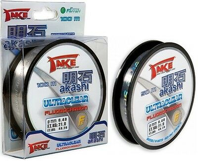 Take Akashi Ultraclear Fluorocarbon 50M & 100M Leader Spools