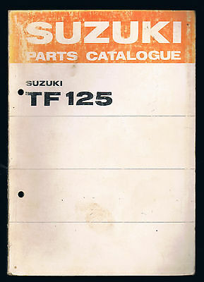 Suzuki Tf 125 Parts Manual First Edition August 1977 Very Good Condition