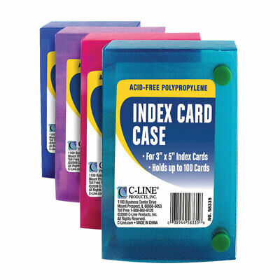 "C Line Products Inc 58335 3"" L X 5"" W Index Card Case Assorted,No 58335"