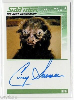 Star Trek TNG Portfolio Autograph Card Ltd CINDY SORENSON
