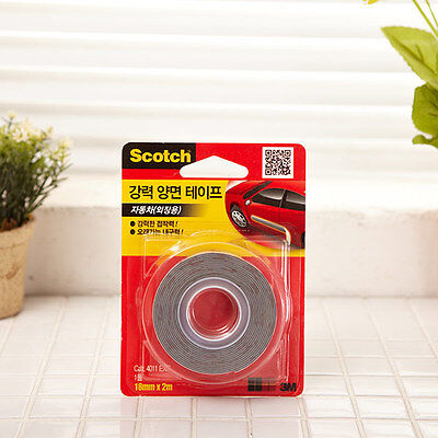 3M Scotch Strong Double Sided Mounting Tape 18mm x 2m / Vehicles Car exterior
