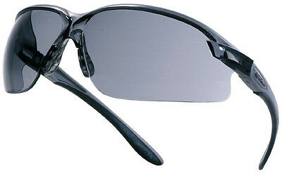 Bolle AXIS safety glasses - SMOKE / SHADED Anti Scratch & adjustable temples 27g
